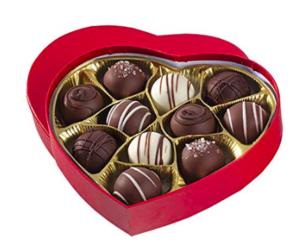Chocolate Truffle Heart Box