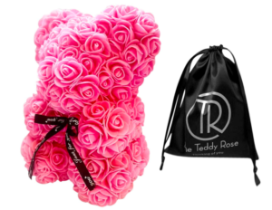 pink rose teddy bear