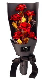 24K Gold Roses Bouquet